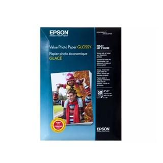 Papel Fotográfico Epson p/ Jato de Tinta 10x15cm 50 Fls Glossy 183g/m²