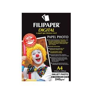 Papel Fotográfico Filipaper p/ Jato de Tinta A4 30 Fls 240g/m²