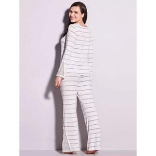 Pijama Longo Hope em Renda e Viscose Maya OLCL070
