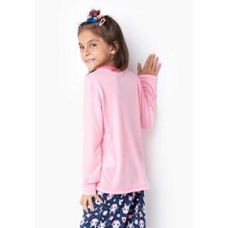 Pijama Puket Feminino Ml Kids Eco Lhama Space