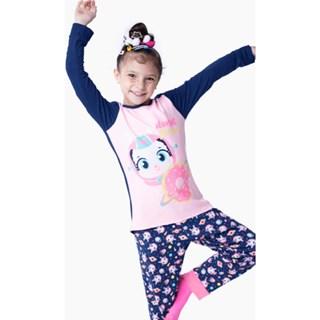Pijama Puket Feminino Ml Kids Visco Lhama Space