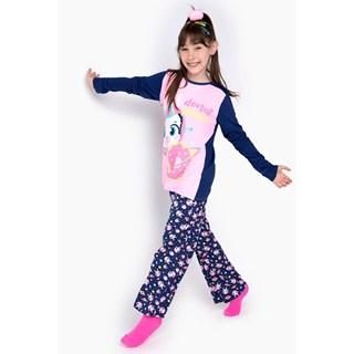 Pijama Puket Feminino Ml Teen Visco Lhama Space