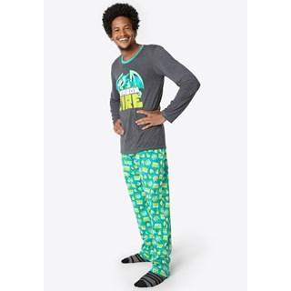 Pijama Puket Ml Adulto 1/2 Malha Dragão