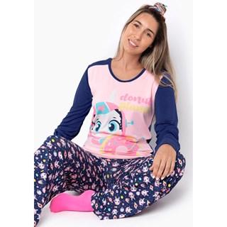 Pijama Puket Ml Adulto Visco Lhama Space