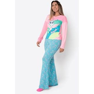 Pijama Puket Ml Adulto Visco Unicórnio Mystic