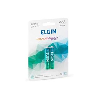 Pilha Alcalina Elgin Elgin AAA Palito c/2 Un