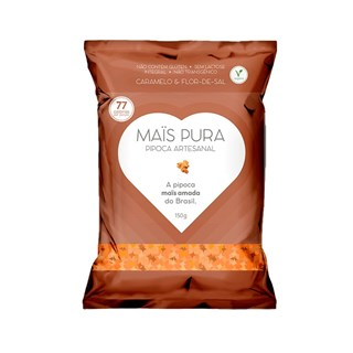 Pipoca Artesanal Mais Pura Caramelo e Flor-de-Sal 150g