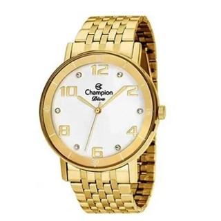 Relógio Champion Diva Feminino Cn26671H -  Dourado Strass