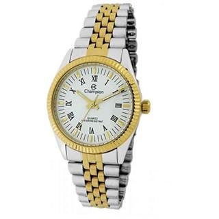 Relógio Champion Prata Com Dourado Feminino Cn22859