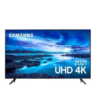 "Smart Tv Samsung 43"" AU7700 4K UHD Crystal Tela Sem Limites Controle Único Alexa Built In"