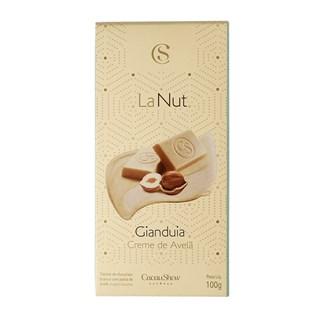 Tablete Lanut Avelã Com Chocolate Branco Cacau Show 100g