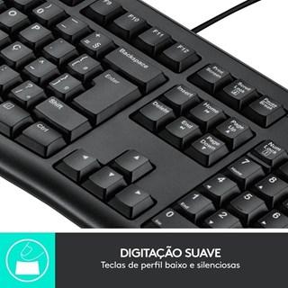 Teclado e Mouse Logitech USB MK120 Preto
