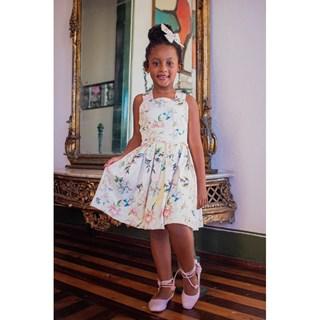 Vestido Daducha Flores de Algodão Doce 4821D