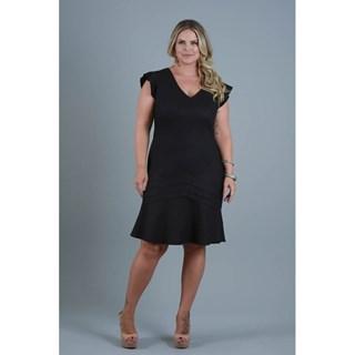 Vestido Program Moda Plus Size Jurema Médio Em Linho E Pregas E Babado-217158-24E
