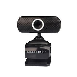 Webcam Plugeplay 480P Mic Usb Preto Multilaser